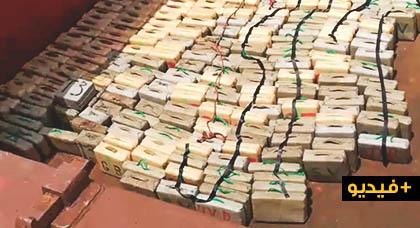شاهدوا بالفيديو.. العثور على 10 أطنان من الحشيش كانت على متن سفينة قبالة السواحل الجنوبية لإسبانيا