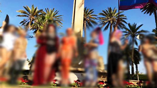 """مثير.. مثليون وشواذ يخرجون وسط مليلية بأزياء فاضحة """"شبه عرّاة"""" وأغلبهم مغاربة وجزائريين"""