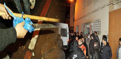 مواطنون بحي لعري الشيخ يحاصرون شخصين من ذوي السوابق كانا يشهران الأسلحة البيضاء والماء القاطع في وجه الساكنة والمارة