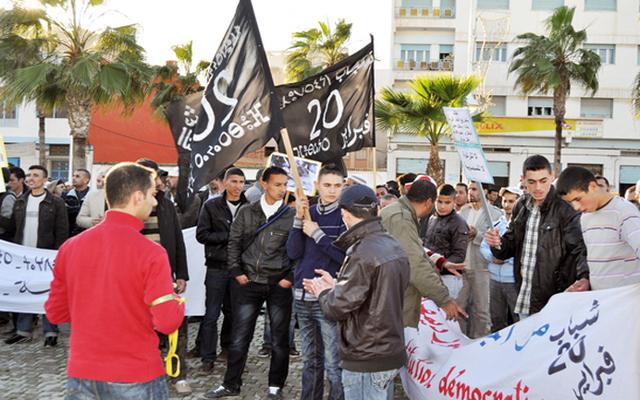 ما مفاكينش ومع المخزن ما مصالحينش شعار مسيرة إحتجاجية جديدة لحركة 20 فبراير بالناظور