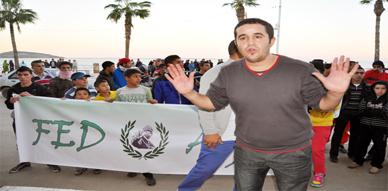 جمهور ناظوري يحتج بمسيرة نحو مقر العمالة على كارثية البنيات التحتية الرياضية بالمدينة