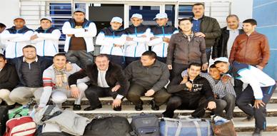 فريق جمعية شباب الخير يشد الرحال الى مدينة فاس للمشاركة في بطولة كأس العرش لهاته السنة
