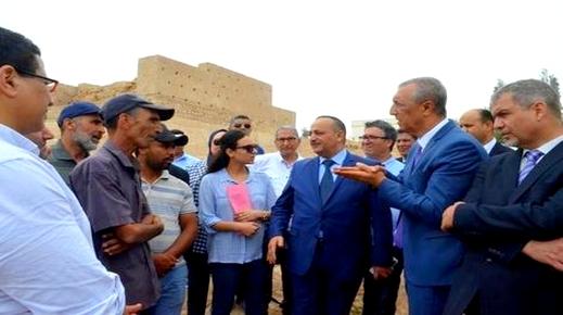وزير الثقافة والاتصال محمد الأعرج يتفقد المشاريع الأثرية بإقليم الحسيمة
