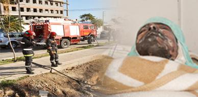 سجارة رجل أمن تتسبب في حريق مأساوي ببني انصار ضحيتة شاب في حالة خطيرة ووالده وعنصر أمني