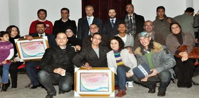 تكريم فرقة اسام للمسرح وموقع ناظور سيتي على إنجاح الجولة الفنية بهولندا بحضور القنصل الفخري العربي سلامة