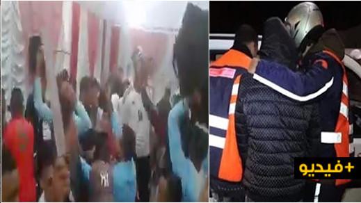 """الشرطة تدخل على خط """"فيديو"""" يظهر أشخاصا يشهرون الأسلحة في حفل زفاف وتعتقل أحد المشتبه فيهم"""