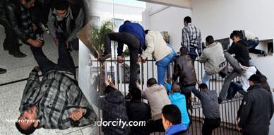 معطلو الناظور يقتحمون مقر العمالة ويعتصمون بداخلها وسط حضور أمني مكثف