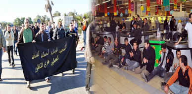معطلو الناظور يقتحمون المركز التجاري مرجان ويشلون حركة السير بمدخل المدينة في إطار أسبوع الغضب