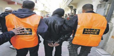 الشرطة القضائية بالناظور تعتقل العنصر الإجرامي مراد غولغولة مرعب النساء ومستعمل الماء القاطع في عملياته الإجرامية