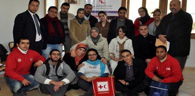 الهلال الأحمر المغربي فرع الناظور يستضيف دورات تكوينية حول مشروع القافلة الميدانية للتحسيس بمخاطر الهجرة الغير الشرعية