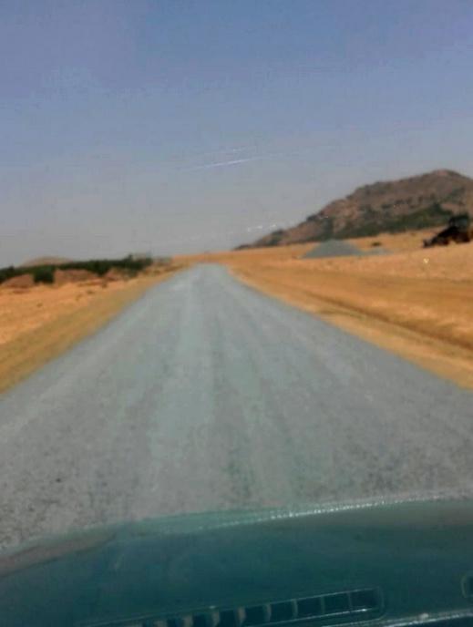 أشغال تزفيت الطريق الرابطة بين مركز جماعة أولاد بوبكر وأولاد حدو بنعلي تشارف على الانتهاء