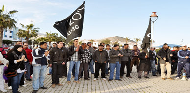 حركة 20 فبراير تؤكد عدم اعترافها بالحكومة الجديدة خلال مسيرة احتجاجية بالناظور