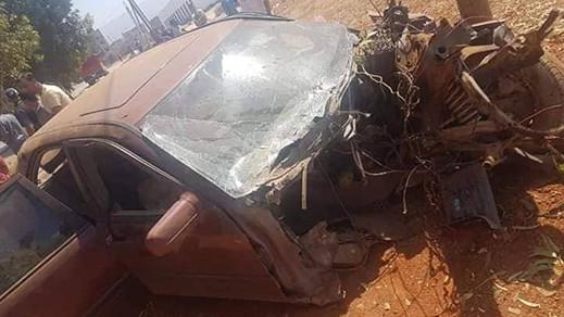 اصابة سائق بجروح بليغة إثر حادثة سير خطيرة بتمسمان