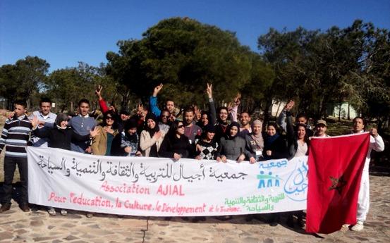 """جمعية أجيال بالناظور تنظم رحلة ثقافية الى موقع """"ثازوضا"""" لفائدة عمال مؤسسة مرجان"""