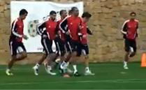 استعدادات المنتخب المغربي لكأس إفريقيا بمارينا