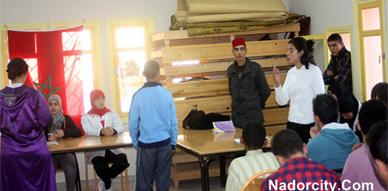 نادي حقوق الإنسان بثانوية الحساني بسلوان ينظم عرضا حول خادمات البيوت