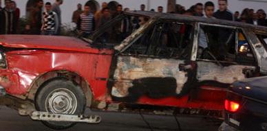 احتراق سيارة بالقرب من سوق أولاد ميمون بالناظور والألطاف الإلاهية تحول دون وقوع ضحايا