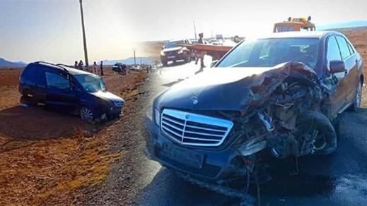 إصابة سيدة وزوجها من أفراد الجالية بجروح وكسور في حادثة سير قرب الدريوش