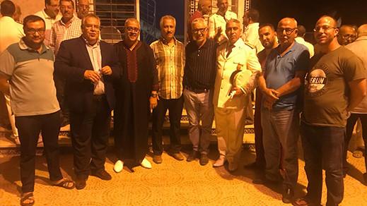 باشا بني انصار الجديد يترأس حفل الانصات للخطاب الملكي ويتعرف على أعضاء المجلس وموظفي الجماعة والباشوية
