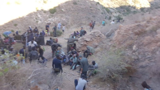 سلطات الأمن توقف 66 مهاجرا سريا ضمنهم 13 امرأة كانوا مختبئين في أحد الأودية بتزاغين