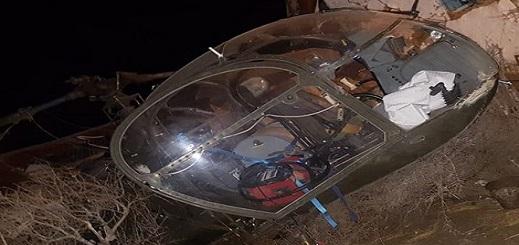 سقوط طائرة هليكوبتر إسبانية بعد اختراقها أجواء المغرب من أجل تهريب الحشيش