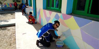 ورش خيري تطوعي بمدرسة يوسف بن تاشفين بسلوان
