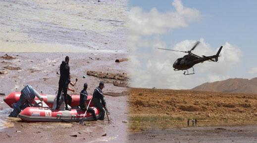 """ارتفاع حصيلة ضحايا حادثة فيضان """"واد دمشان"""" إلى 11 شخصا والسلطات تستعين بمروحية وزورق للبحث عن المفقودين"""