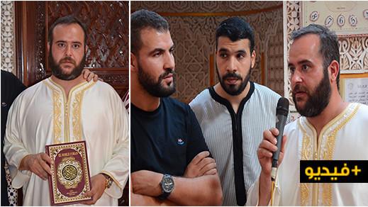 مسجد أولاد إبراهيم بالناظور يحتفي بمواطن إسباني أشهر إسلامه أمام المصلين