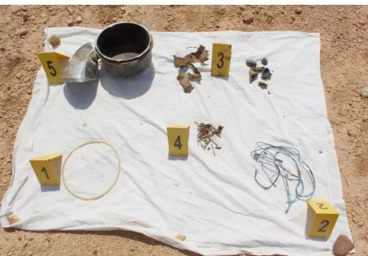 صور... البسيج يكشف موقع منطقة جبلية بالدريوش استغلها ارهابيون في صناغة المتفجرات