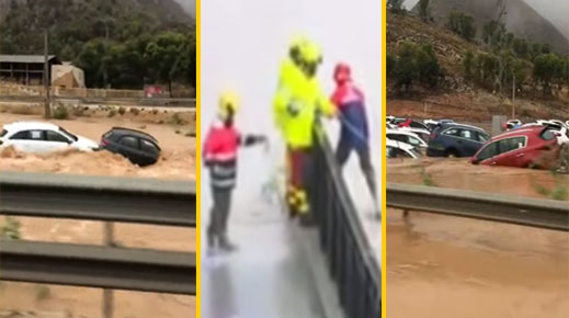بالفيديو.. قتلى وإصابات والآلاف مُحاصرون وإجلاء مناطق سكنية بأكملها جراء فيضانات ضخمة في إسبانيا