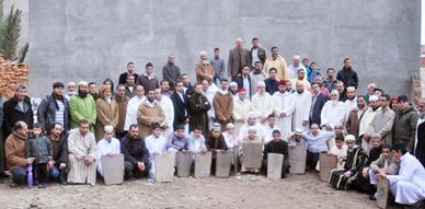 المجلس العلمي بالناظور يشرف على وضع حجر الأساس لبناء مدرسة لتحفيظ القرآن الكريم بالعروي