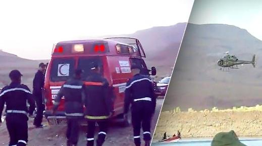 """العثور على جثة طفل يرفع حصيلة انقلاب حافلة لنقل المسافرين بـ """"واد الدرمشان"""" إلى 30 قتيلا"""