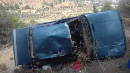 نجاة ركاب سيارة من موت محقق إثر انقلابها بواد أمقران ضواحي اجرماوس