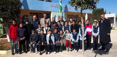 زيارة وفد بيئي لمدرسة وادي المخازن بسلوان