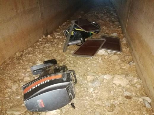 بالصور.. العثور على معدات للهجرة السرية  بدوار الساحل بجماعة دار الكبداني