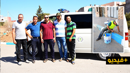 حملة نظافة واسعة من تنظيم  جمعية الامل للتنمية البشرية تزامنا مع تسلمها سيارة اسعاف