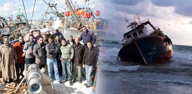 بحارة ينجون بأعجوبة من غرق مركبهم بالقرب من ميناء بني انصار يحكون قصة مرعبة ويستنكرون لامبالاة مصالح الإنقاذ