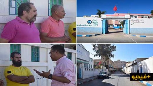 آباء وأولياء تلاميذ مدرسة لعري نالشيخ يحتجون ضد تراكم الأزبال أمام المؤسسة ويطالبون السلطات بالتدخل