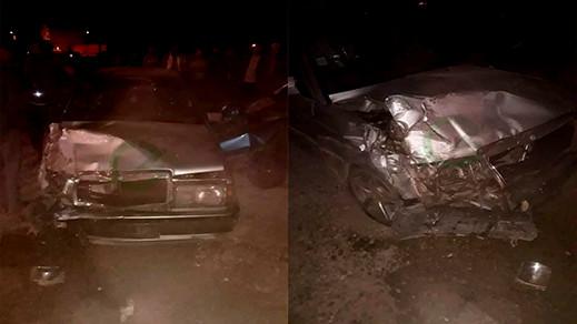 بالصور.. إصابة 4 أشخاص بجروح متفاوتة الخطورة جراء حادثة سير خطيرة بالقرب من صاكا