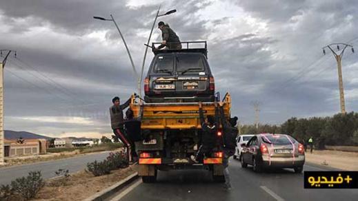 """تسلل """"الحراكة"""" لشاحنات الرالي العائدة لأوروبا يتسبب في إرباك حركة السير بمدخل الناظور"""