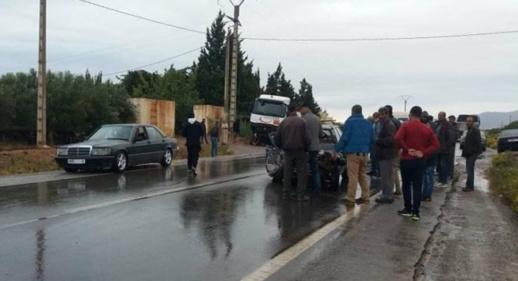 مصرع شخص إثر حادثة سير بين أركمان والبركانيين