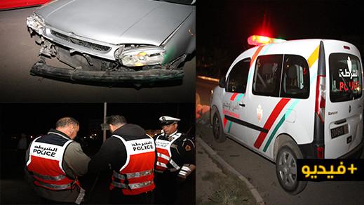 بسبب انعدام الإنارة حادثة سير خطيرة بشارع 80 بالناظور