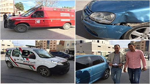 حادثة وسط الحي الإداري بالناظور تسبب في اصابة شخص ونقله الى مستشفى الحسني