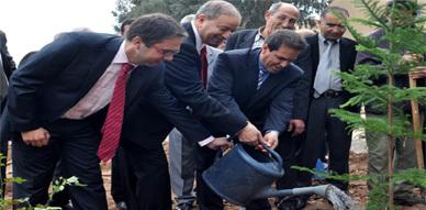 ثانوية محمد الزرقطوني ترتدي حلة جديدة إثر إستهدافها بعملية تشجير