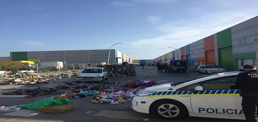 """الشرطة الإسبانية تصادر 11 طن من بضائع """"فراشة"""" مغاربة بمدينة مليلية"""