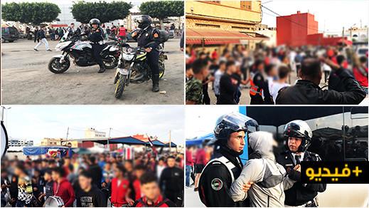 حضور الأمن ينهي مناوشات بين الجماهير خلال مباراة أزغنغان وبني بوغافر بالناظور