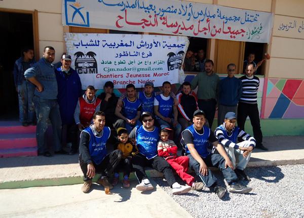 جمعية الأوراش المغربية للشباب تبدع بمجموعة مدارس اولاد منصور بأولاد ستوت