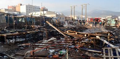 إندلاع حريق بجوطية بني انصار وإعتقال حارسها المشتبه فيه بإضرام النار