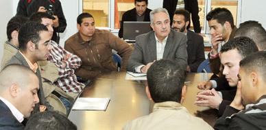 النائب البرلماني نور الدين البركاني يتدارس في لقاء تواصلي مع ممثلي المواقع الإلكترونية بالناظور واقع القطاع