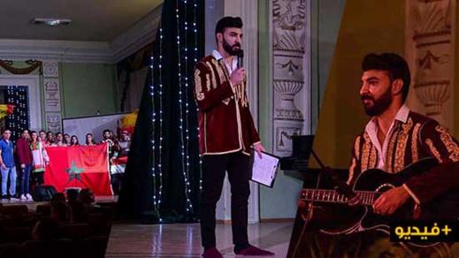 الطالب الناظوري بوزكو يقدم عرضا متميزا حول الصناعة التقليدية بالمغرب في روسيا